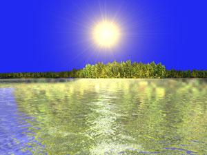 Premier test avec photo d'arbre et faux reflet